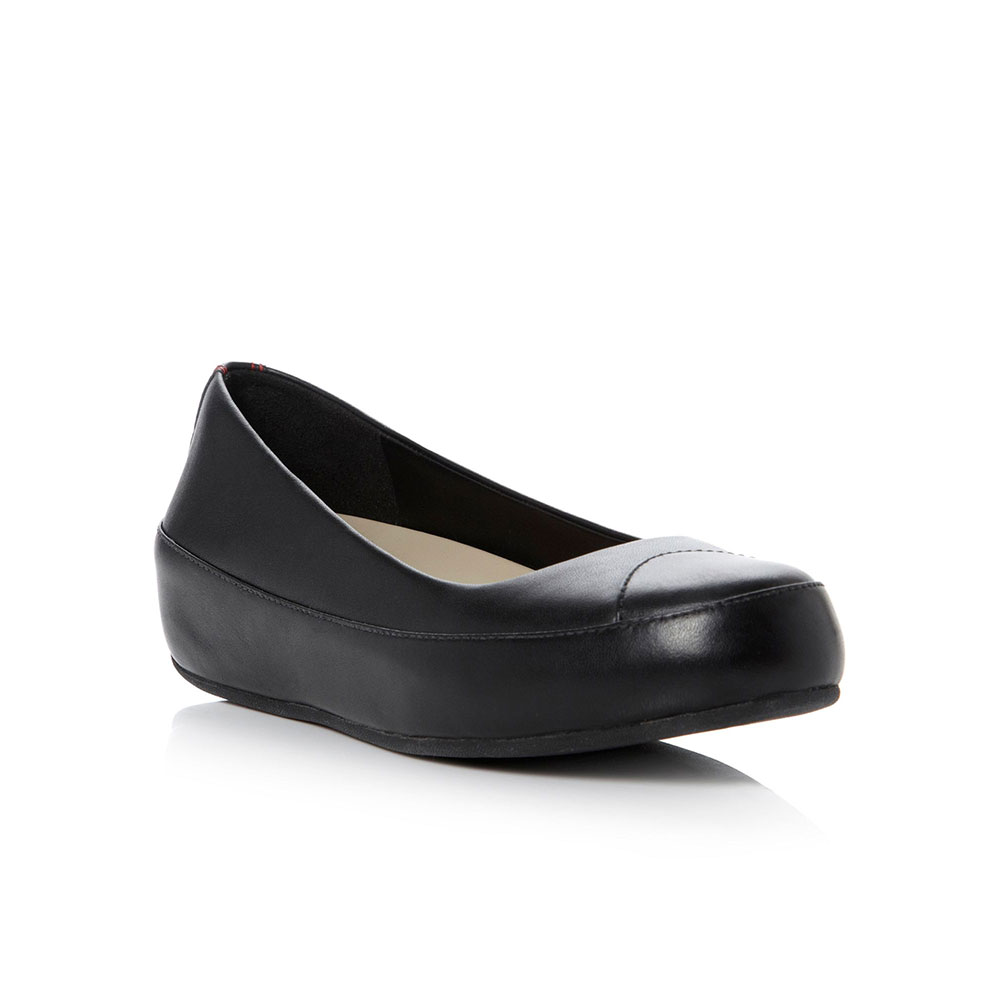 FITFLOP™ Due™ black leather
