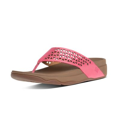 FITFLOP Surfa Leather Lattice Bubblegum