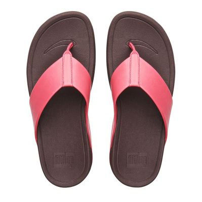 FITFLOPS Surfa Leather Raspberry Pink