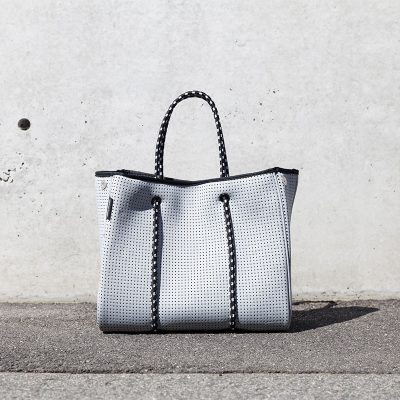Prene Bags Perforated Neoprene Portsea Bag Light grey
