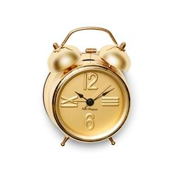 S&P Alarm Clock Gold 9cm