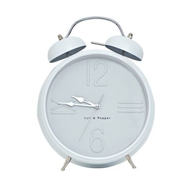S&P Alarm clock 25cm white