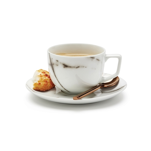 S&P Marble Teacup and Saucer