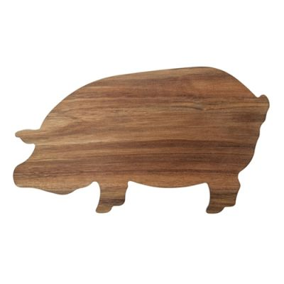 S&P Wooden BUTCHER Pig Shaped Board