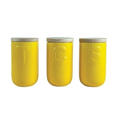 S&P Studio canister set yellow