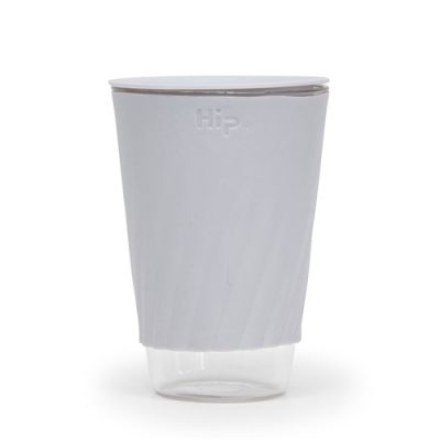 Hip Glass travel mug light grey