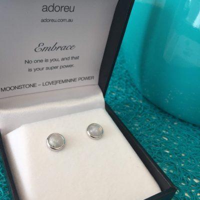 adoeu earrings moonstone