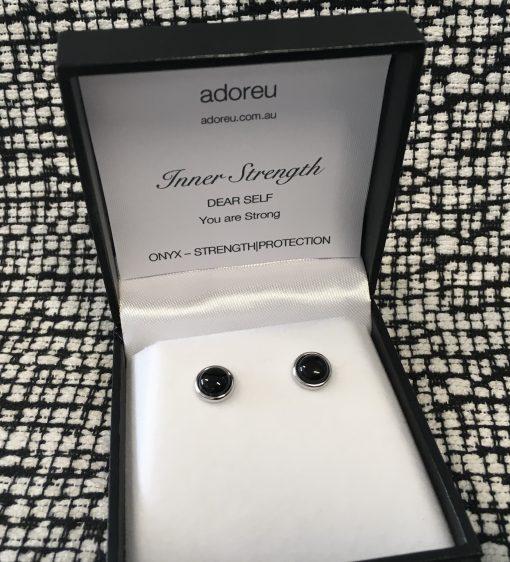 Adoreu earrings onyx