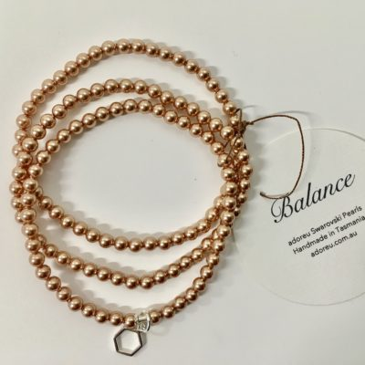Rose gold three stran bracelet