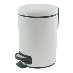 white pedal bin