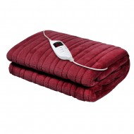 electric throw burgundy