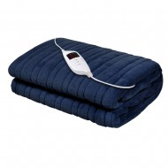electric throw rug navy