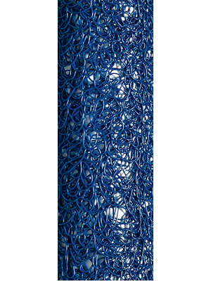 Table runner spun blue