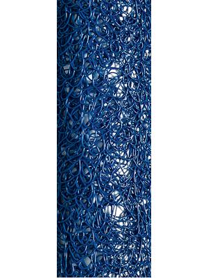Table runner spun blue