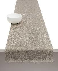 Spun table runner grey