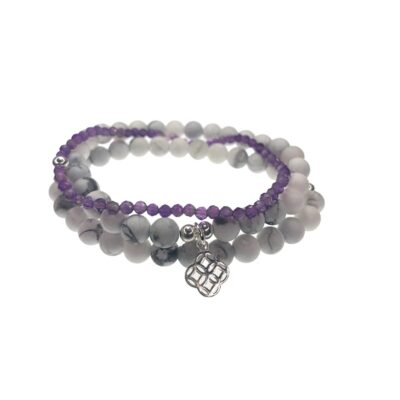 Adoreu howlite and amethyst braclet
