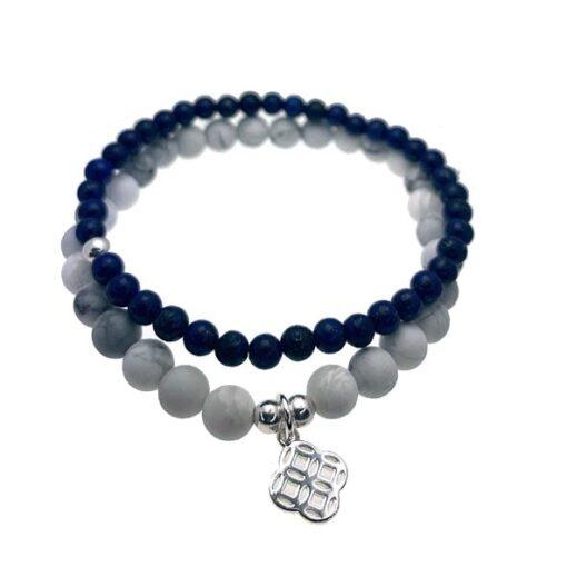 Adoreu Howlite sodalite bracelet