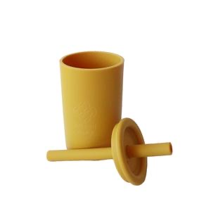 Silicone cup mustard