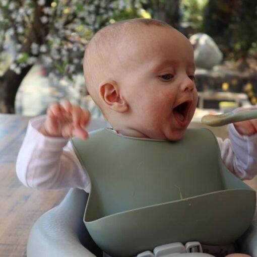 Baby bib sage