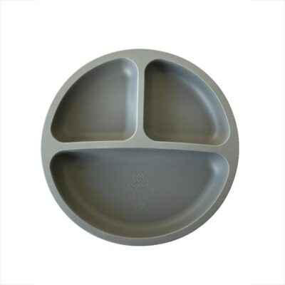 Adoreu baby silicone plate charcoal